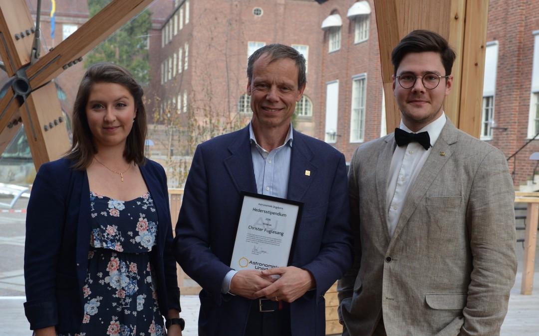 Christer Fuglesang tilldelad 2015 års Hedersstipendium