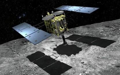 Hayabusa 2 kommer använda samma metod för att samla prover som sin föregångare. Nudda asteroiden med en form av skopa.