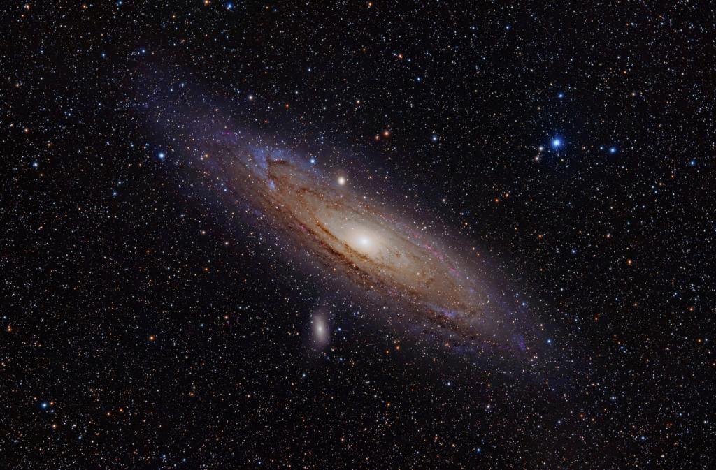 Andromedagalaxen. Foto: Adam Evans.