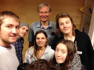 En del av poängjakten i var att ta en #groupie med Bengt Edvardsson, så bengt fick fullt upp efter föreläsningen.