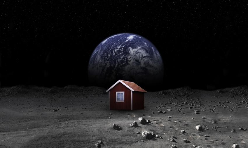 Den röda stugan på månen